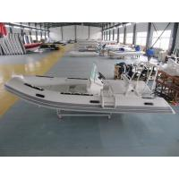 Quality 480cm FRP Rigid Inflatable Rib Boat 8 People With Front Locker / SS Light Arch for sale