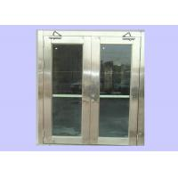 Quality Cheap 1.5 Hours 55 mm Class A Stainless Steel Fire Rated Glass Doors For Hospital/ Opening Force 66 N for sale