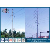 Buy cheap 220KV Hot Dip Galvanized Electrical Power Transmission Steel Pole Transformer from wholesalers