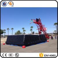 China Freefall Inflatable Stunt Jump Platform, Zero Shock Inflatable Cliff Jump with air bag on sale