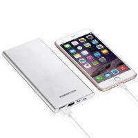 Quality Safe Universal Power Bank 10000mah Dual Output Sliver External Battery for sale