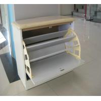 Quality Wooden Shoe Display Racks Living Room Furniture With 3 Layer for sale