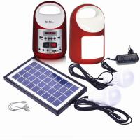 Quality portable solar panel lighting kits for camping, mini solar home  system , solar light for camping solar bule.yellow for sale