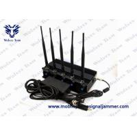 Quality Cell Phone GPS Jammer 5 High Power Antenna Outstanding Heat Dissipation for sale