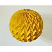 Quality Gold Origami Cover Paper Lantern Ball 40cm Window Shop Decorations Party Festival for sale