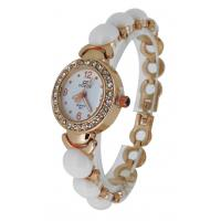 Quality White Beads Girls Bracelet Watches , Lover Wrist Watch Japan Movt for sale