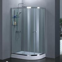 Quality Offset quadrant double shower sliding door, 6/8mm tempered glass for sale