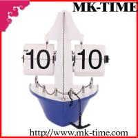 Quality Blue Sailing Ship Flip Down Clock Antique For Men Gifts for sale
