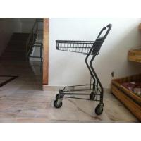 Quality Japanese Metallic Supermarket Shopping Trolley / Grocery Cart With Wheels for sale