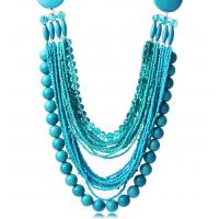 Quality Retro fashion bohemian handmade beads multi-chain necklace clavicle for sale