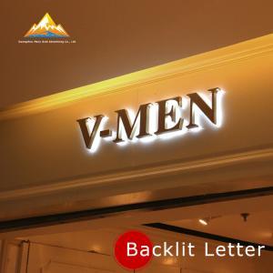 Quality Hot Sale Metal Backlit Letter Sign Stainless Steel Backlit Letter Metal Advertising Letters for sale