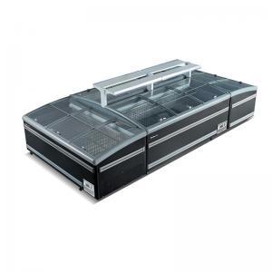 Quality Supermarket Island Freezer Sliding Glass Top Deep Combined Island Freezer for sale