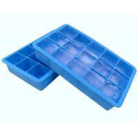 Quality Fancy 15 Cavity Silicone Chocolate Molds , Easy Make Large Square Ice Cube Tray for sale