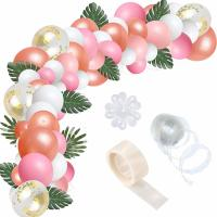Quality Pink Pearlescent Helium Party Balloons Arch Garland Kit Confetti Balloons for sale