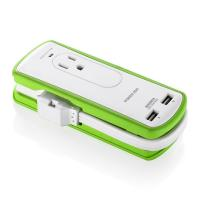 Quality 2 Outlet Mini International Travel Power Strip Surge Protector UL Approved for sale