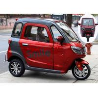 Quality Disc Brake 60V 1000W 58Ah Battery Enclosed Electric Tricycle for sale