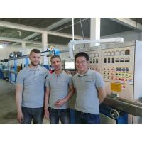 Quality 380v Wire And Cable Extrusion Machine , Algeria Power Cable Making Equipment for sale