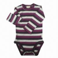 Quality Baby Romper, Made of Yarn-dyed Combed Cotton for sale