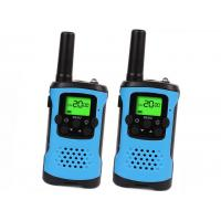 Buy cheap UHF Rechargeable Two Way Radios Blue Color For Travel / Camping / Hiking from wholesalers