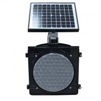 Quality 300mm Solar Poewred Flashing Yellow Traffic Warning Light, Battery Operated Solar Flahser for sale