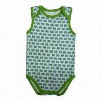 Quality Babies' Romper, Made of 100% Cotton 1 x 1 Ribs, Suitable for 3 to 24 Months Babies for sale