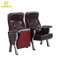 Buy cheap Aluminum Alloy plywood cover leather Auditorium Chairs with ABS Tablet  360° Turning from Wholesalers
