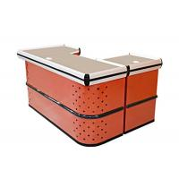 Quality Orange Checkout Counters For Retail Stores / Boutique Cash Wrap Counter for sale
