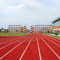 China Permeable UV Resistance Rubber Running Track Material on sale