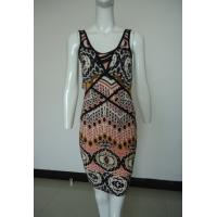 Quality Tribal Printing Going Out Maxi Dresses , Black Piping Womens Casual Tank Dresses for sale