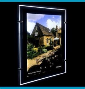 Quality Bespoke Crystal Slim Light Box Double Sided Acrylic LED Window Display  DC 12V or 24V for sale