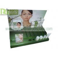 China Green Acrylic Display Stands Customized Graphic / Size For Makeup Products on sale
