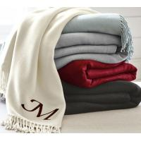 China Red White Knitted Throw Blanket on sale
