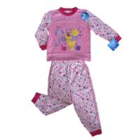 Quality Children's Apparel 100% Cotton Interlock with Bear Applique for sale