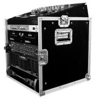 """Quality Flight Case 10U SLANT MIXER RACK / 10 U VERTICAL RACK SYSTEMDimensions: Inches: 29.3"""" h X 21.3"""" w X 23.8"""" d Centimeters: 74.42 h X 54.1 w X 60.45 d Weight: 51 lbs. (23.13 kg.)Description:Good construction doesnt go out of style. Thats our MO and th for sale"""