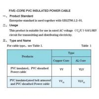 Buy cheap 4) Five-core pvc insulated power cable from wholesalers