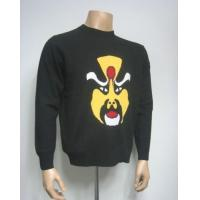 Quality Men Cashmere Sweater Intarsia Sweater with Chinese Pattern for sale