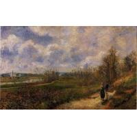 Quality Impressionist(3830) Pathway_at_Chou,_Pontoise for sale