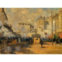 Quality Impressionist(3830) Exterior_of_Saint-Lazare_Station,_Sunlight_Effect for sale