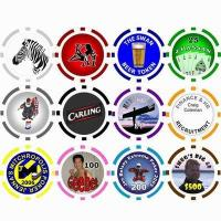 Quality 11.5g 8-Striped Poker Chip for sale