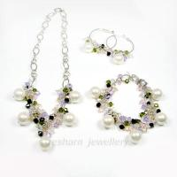 Quality Fashion Jewelry Crystal and Shell Pe... SE9024 for sale