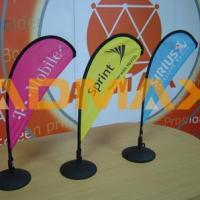 Quality Tabeltop flying banner Roll up stand steel for sale