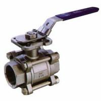 Quality 3-PC BALL VALVE WITH MOUNTING PAD FULL BORE 1000PSI for sale
