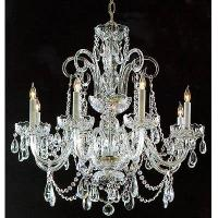 Quality Silver Crystal Chandelier / with glass Arms for sale