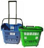 Mobile Trolley Baskets With Casters