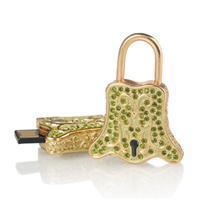 Buy cheap lock shape crystal usb+CWC-12-002 from wholesalers