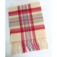 China Extra long lambswool scarf - winter white, berry, lilac and green 20.85 on sale