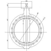 Quality Flanged butterfly valve for sale