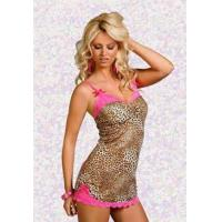 Quality Plus Size Leopard Print Chemise - 15% off for sale