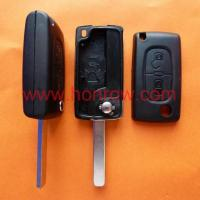 Buy Citroen 307 2 buttons flip key shell- no battery place at wholesale prices