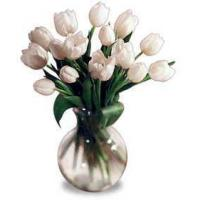 China White Tulip Bouquet on sale